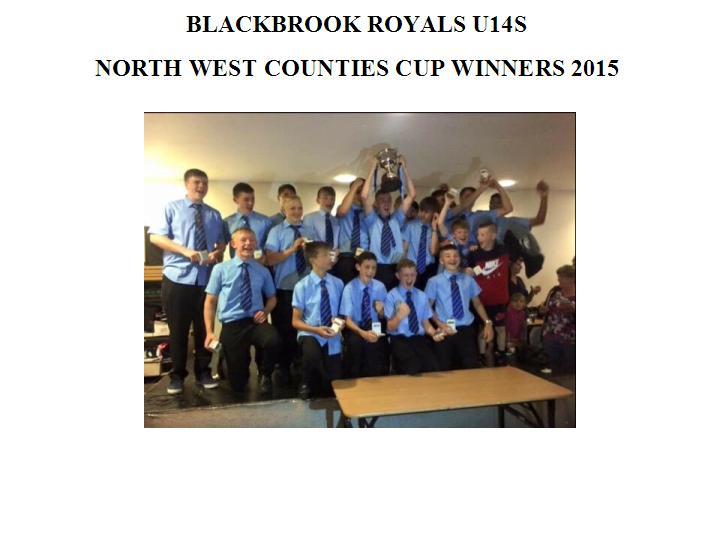 U14s Royals NWC Cup Winners 2015
